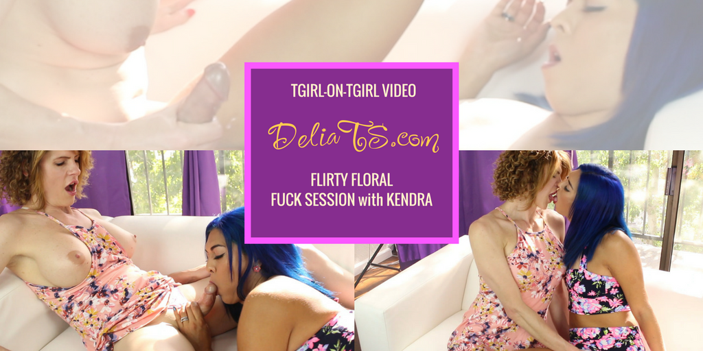 Flirty Floral Delia and Kendra Fuck Session