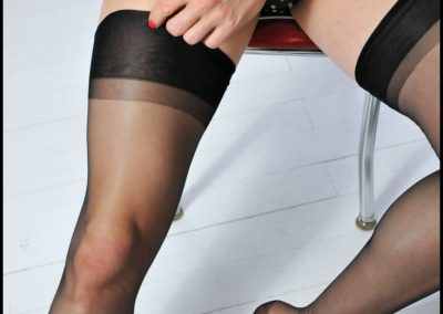 Black Nylon RHT Stockings