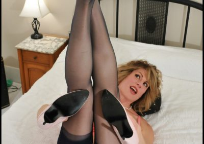 Navy 100 Percent Nylon Stockings