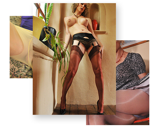 Delia in nylon stockings & PH